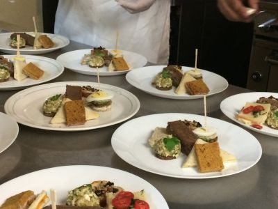 Plates of food from Promise Culinary School
